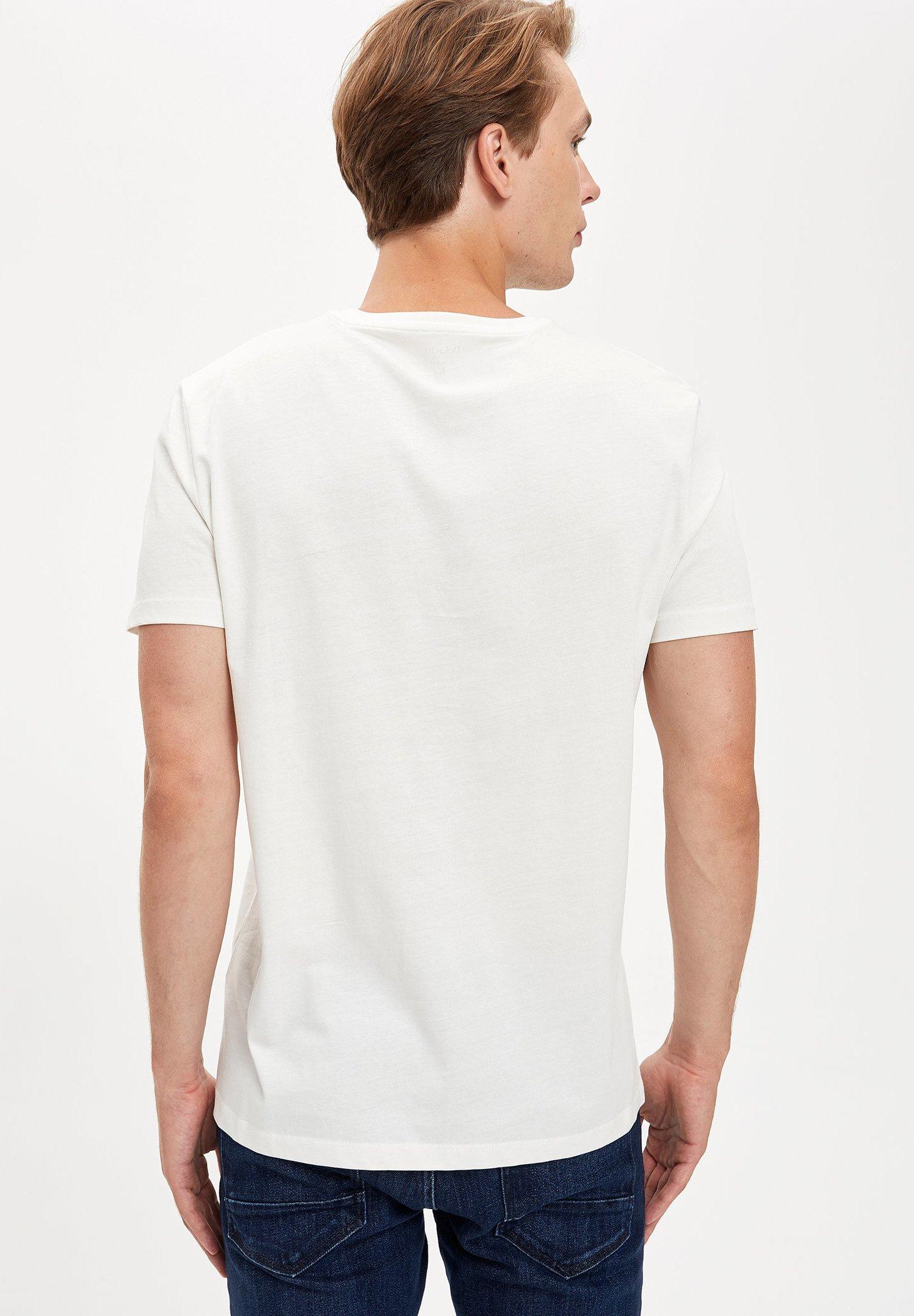 DeFacto Print T-shirt - ecru B40l6