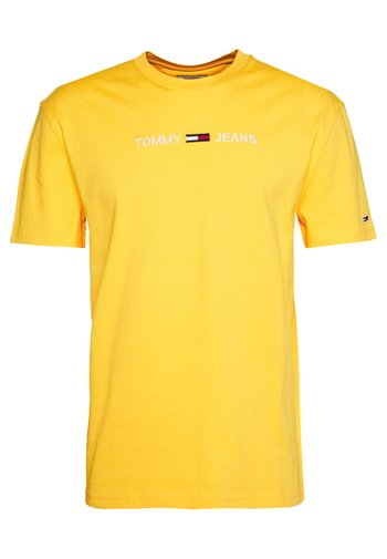 STRAIGHT LOGO TEE - Print T-shirt - star fruit yellow