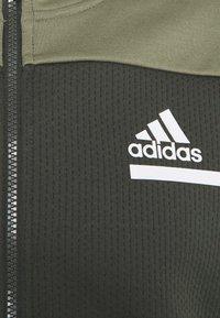 adidas Performance - HOODIE AEROREADY HOODED TRACK  - Zip-up hoodie - dark green - 2