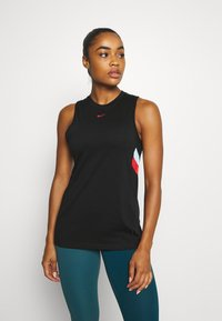 Nike Performance - DRY STRIPE - Top - black/chile red - 0