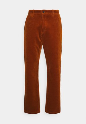MENSON PANT BARRINGTON - Tygbyxor - brandy rinsed