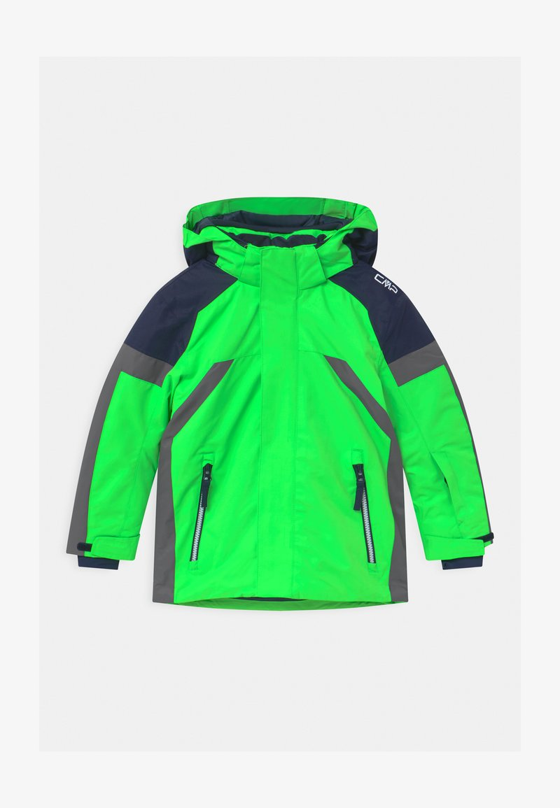 CMP - BOY SNAPS HOOD - Lyžařská bunda - verde fluo