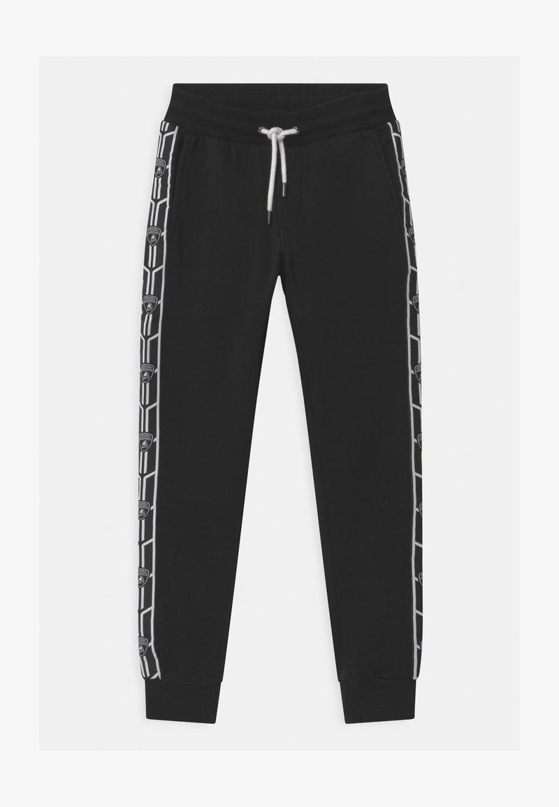 Automobili Lamborghini Kidswear - SHIELD TAPE - Tracksuit bottoms - black pegaso