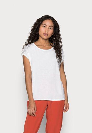 VMAVA PLAIN 2PACK - Basic T-shirt - black/snow white