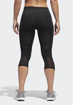 HOW WE DO 3/4-TIGHTS - 3/4 sports trousers - black