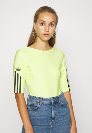 Print T-shirt - semi frozen yellow