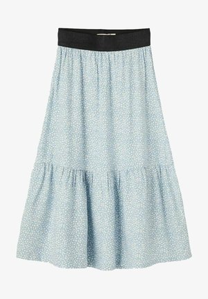 Pleated skirt - dusty blue