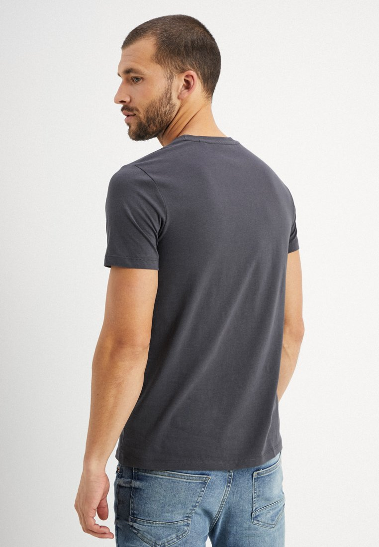 Marc O'Polo C-NECK - Basic T-shirt - gray pinstripe 0yPZW