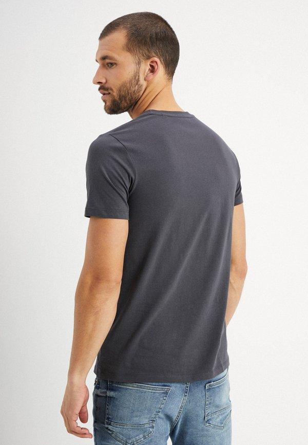 Marc O'Polo C-NECK - T-shirt basic - gray pinstripe/ciemnoszary Odzież Męska HSED