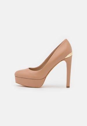 DEARLY - Platform heels - beige neutro