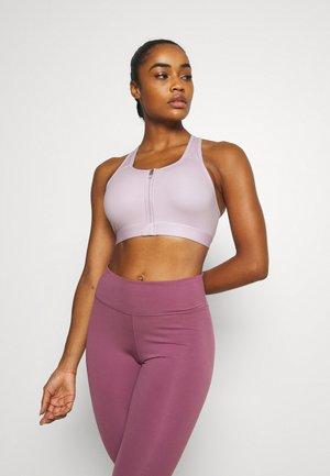 ZIP FRONT BRA - Medium support sports bra - regal pink/white