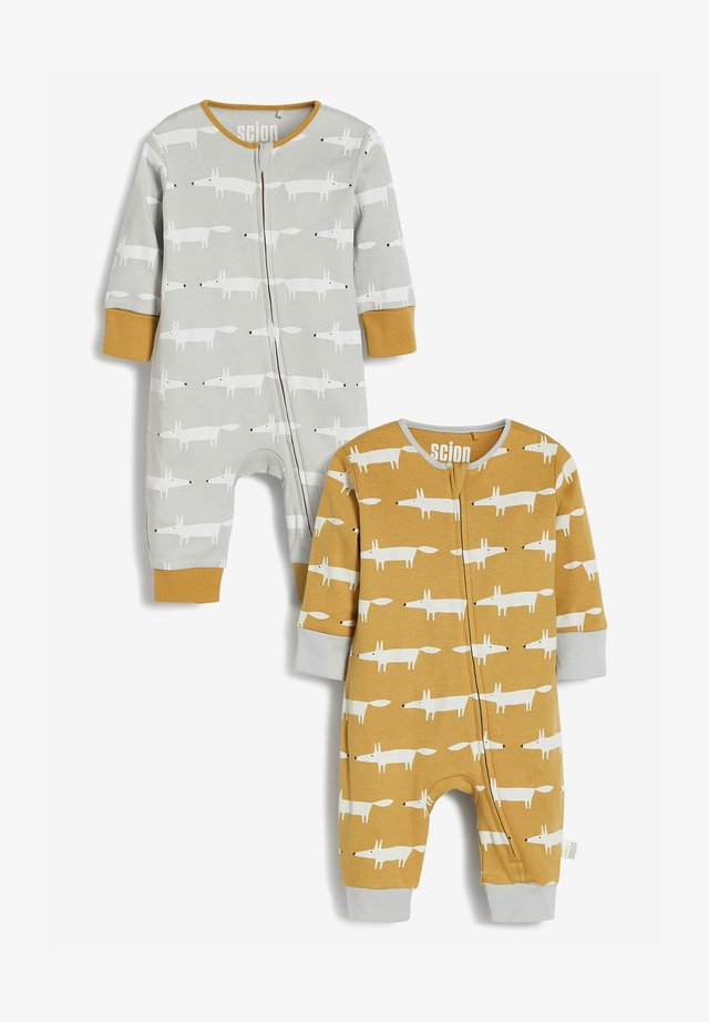 2PACK - Sleep suit - ochre