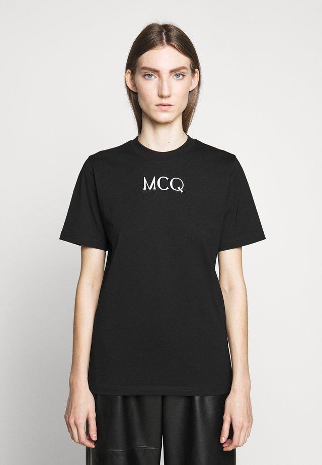 BAND TEE - T-shirt con stampa - darkest black