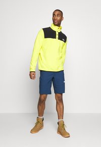 The North Face - MENS GLACIER SNAP NECK - Sweat polaire - lemon/black - 1