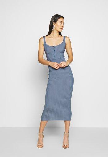 DRESS - Shift dress - denim blue