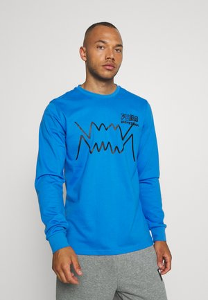 HOOPS PULL UP TEE - Long sleeved top - palace blue