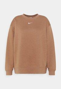 CREW PLUS - Sweatshirt - archaeo brown/white