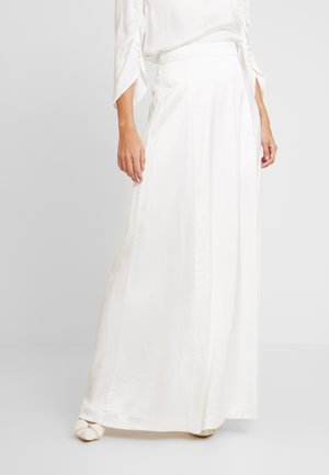 BRIDAL SKIRT LONG - Maxi sukně - snow white