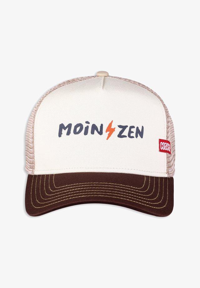 MOINZEN - Cappellino - white/brown/khaki