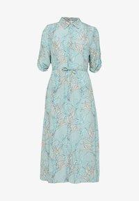 Esqualo - DRESS LONG HARVEST PRINT - Shirt dress - turquoise - 0