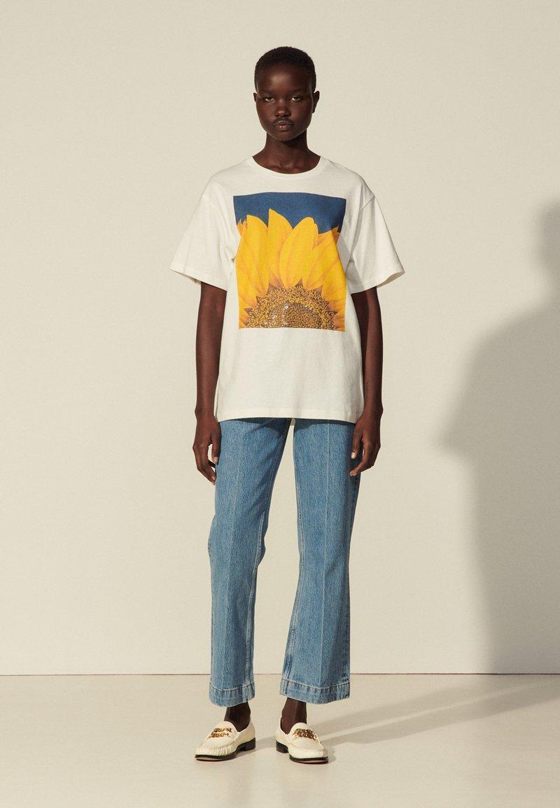 sandro - Print T-shirt - blanc