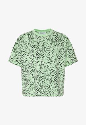 LEAH - T-shirts print - green ash/black