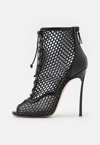 Casadei - JOLLY BLADE WEBSTER - Lace-up ankle boots - minorca/nero - 1
