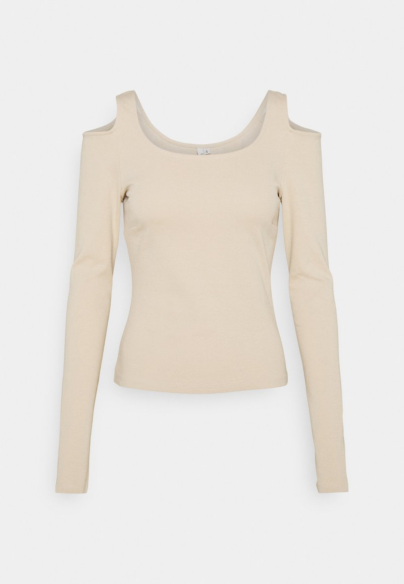 Nly by Nelly - COLD SHOULDER TOP - Long sleeved top - beige