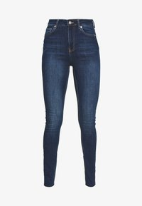 NA-KD Tall - HIGH WAIST RAW - Jeans Skinny Fit - dark blue - 3