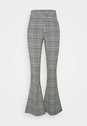 ONLZIGA FLARED PANTS - Trousers - black/cloud dancer