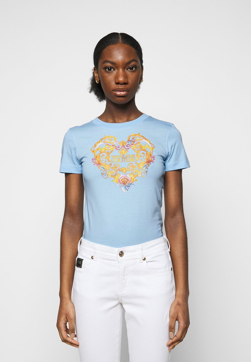 Versace Jeans Couture - TEE - Print T-shirt - blue