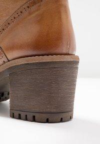 Pier One - Lace-up ankle boots - cognac - 2