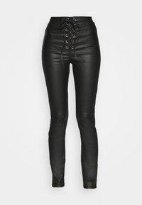 Missguided - COATED CORSET DETAIL - Kalhoty - black - 3