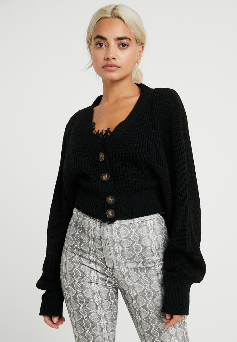 Glamorous Petite - BUTTON DOWN - Cardigan - black