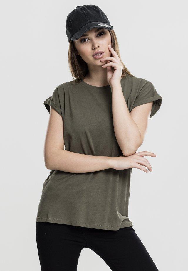 LADIES EXTENDED SHOULDER - Basic T-shirt - olive
