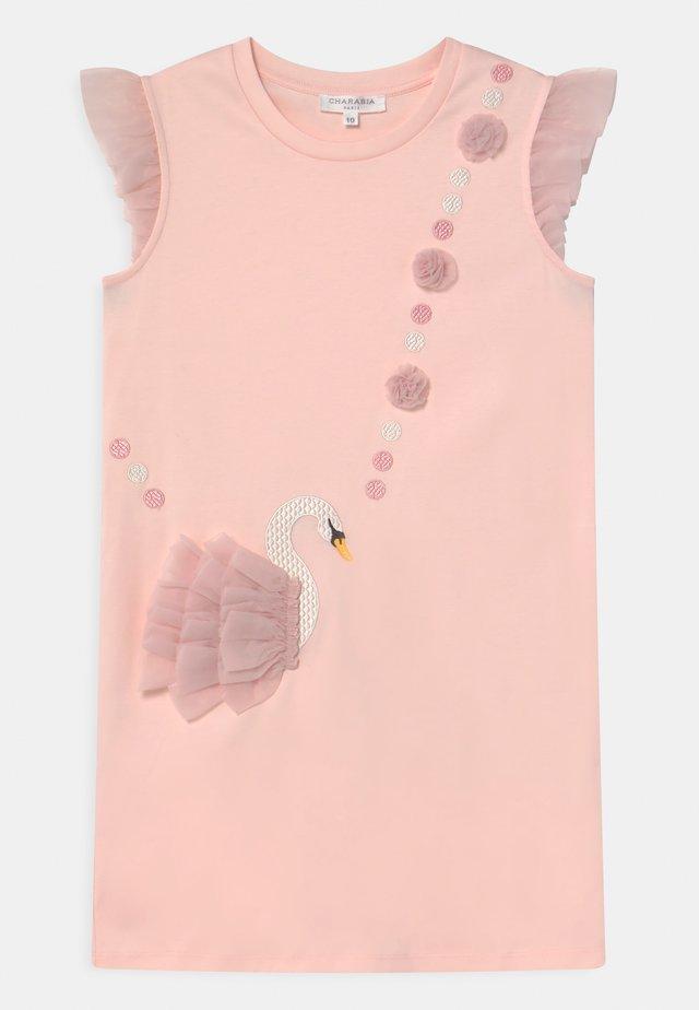 Jerseyklänning - pinkpale