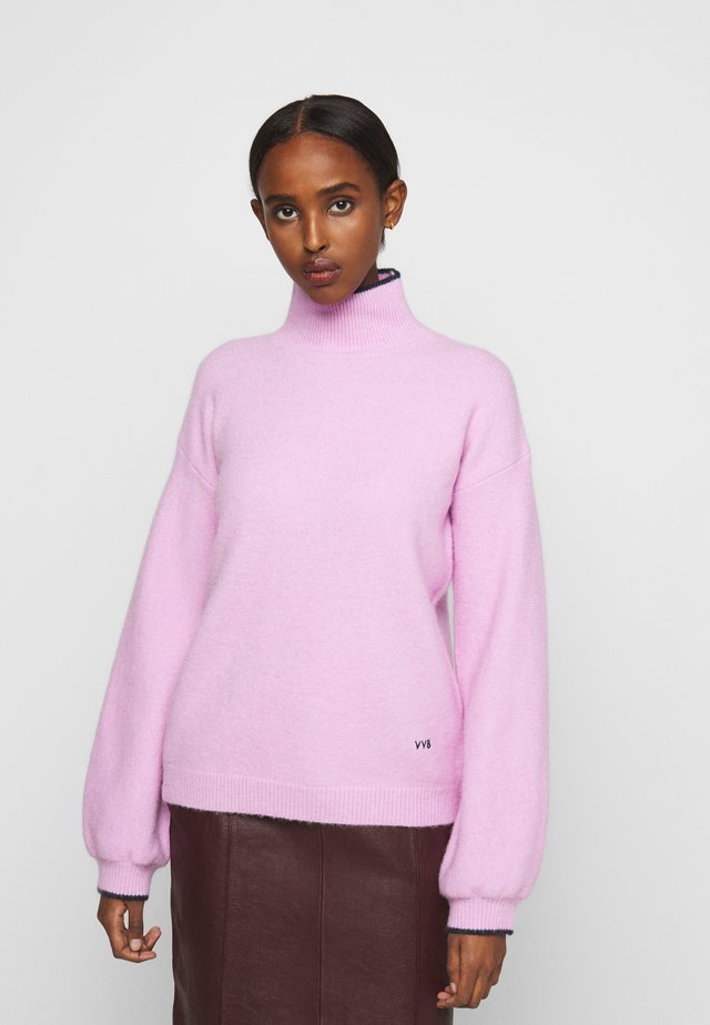 OVERSIZED MOCK NECK JUMPER - Jumper - lilac pink