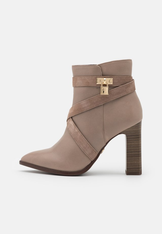 BOOTS - High heeled ankle boots - taupe