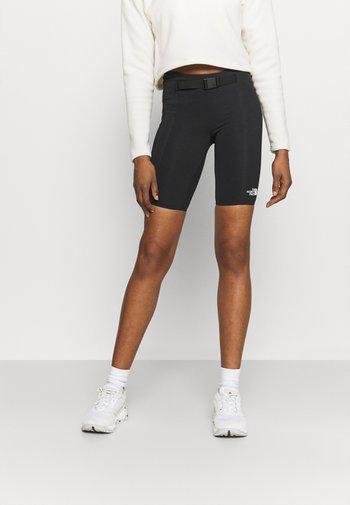 WAIST PACK SHORT - Leggings - black