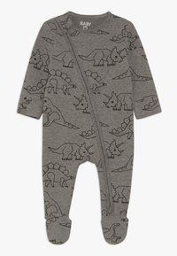 Cotton On - MINI ZIP THROUGH ROMPER BABY - Pyjamas - charcoal marle - 0