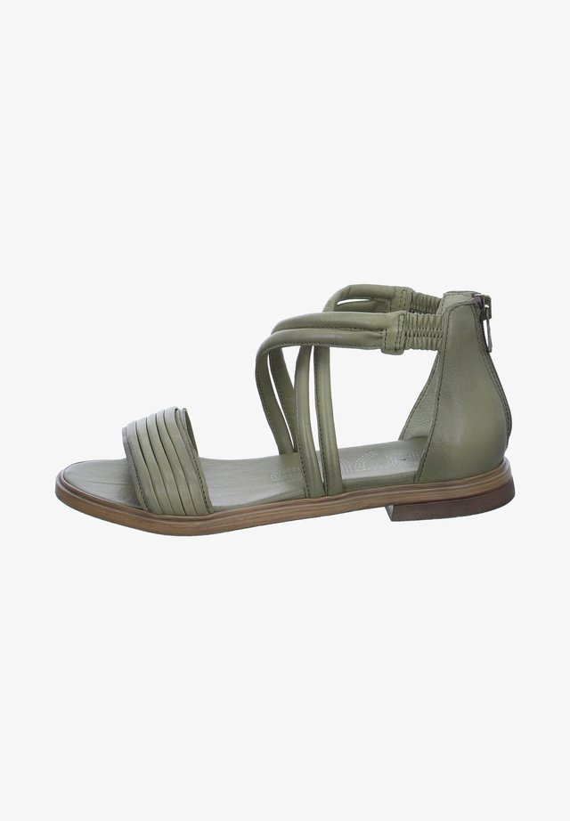 Ankle cuff sandals - grün