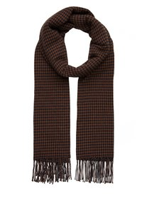 Marc O'Polo - SCARF WOVEN STRUCTURED HOUNDSTOOT - Scarf - brown - 0