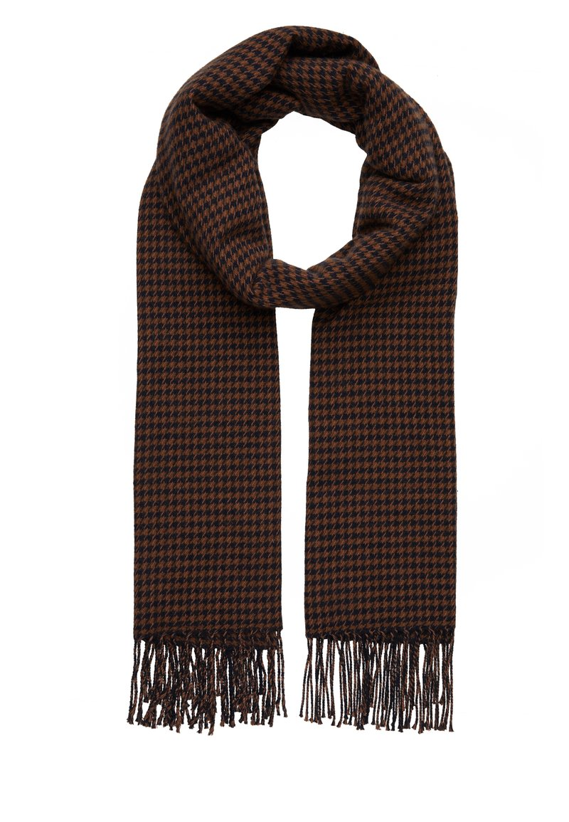 Marc O'Polo - SCARF WOVEN STRUCTURED HOUNDSTOOT - Scarf - brown