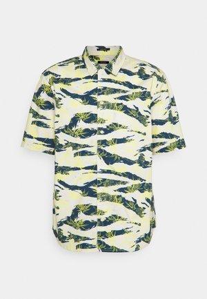 CARLTON REGULAR  - Camicia - off white/dark blue/yellow
