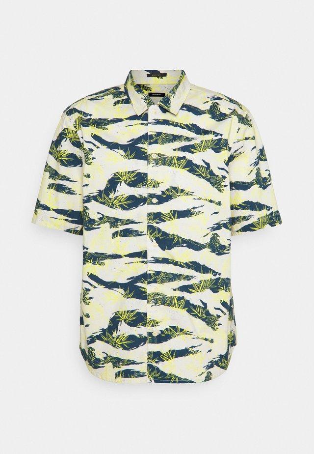 CARLTON REGULAR  - Overhemd - off white/dark blue/yellow