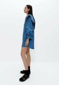 Uterqüe - Denim dress - blue - 3