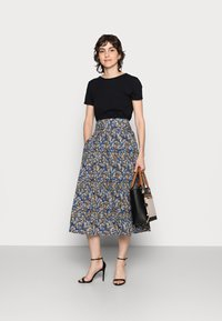 Thought - ELSIE PLEATSKIRT - A-line skirt - azure blue - 1