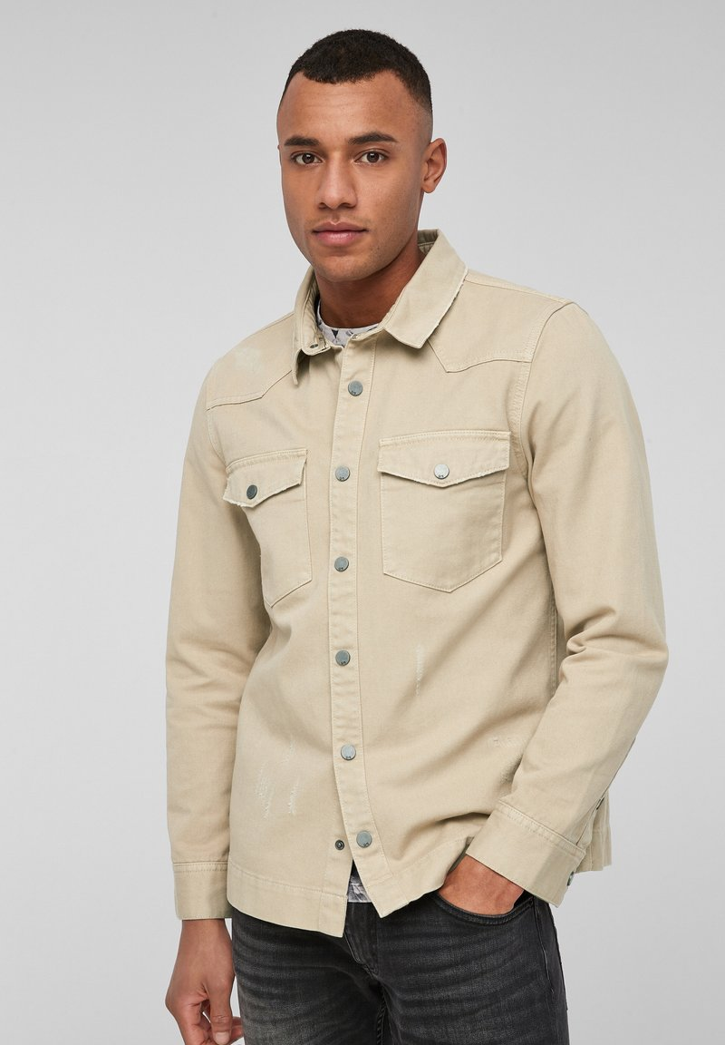 QS by s.Oliver - Shirt - beige