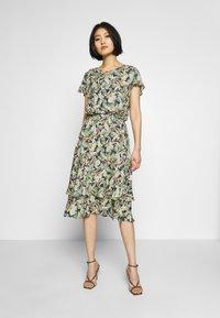 Barbara Lebek - Day dress - denim blue/ lemon/ orange - 0