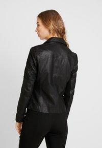 YAS - YASPAULINA NAPLON JACKET - Leather jacket - black - 2